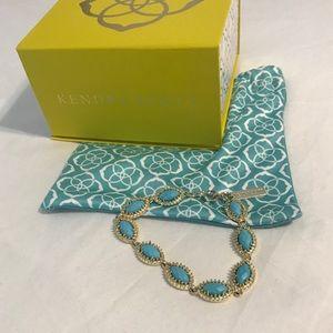 KS Jana Gold Link Bracelet,Teal Magnesite